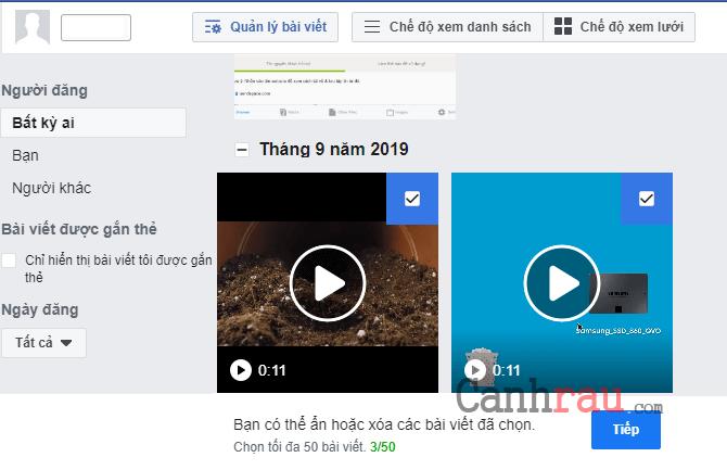 Cách xóa tất cả bài viết trên Facebook hình 8