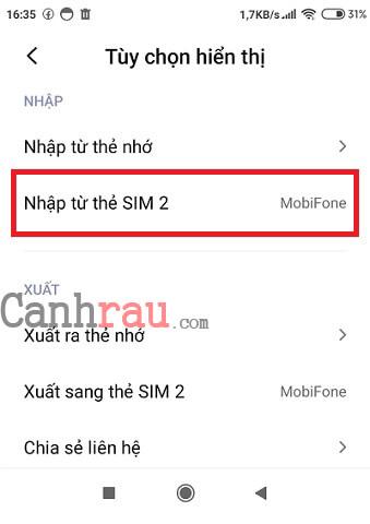 Chuyển danh bạ từ iPhone sang Android hình 1