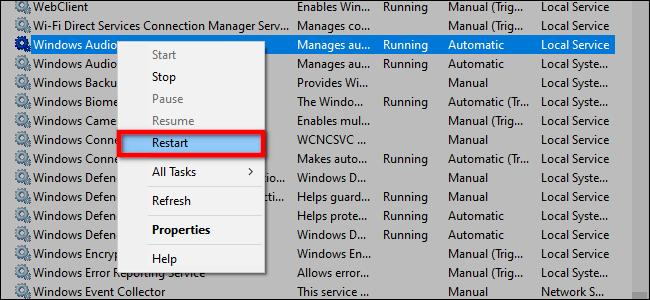 Sửa lỗi máy tính bị mất âm thanh trên Windows 10 hình 11