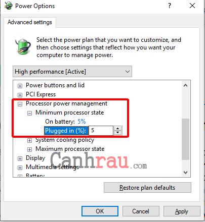 Sửa lỗi máy tính tự khởi động lại hoặc tự động tắt máy hình 12