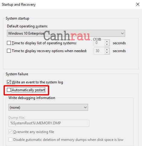 Sửa lỗi máy tính tự khởi động lại hoặc tự động tắt máy hình 3