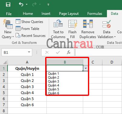 Tạo danh sách thả xuống trong Excel hình 3