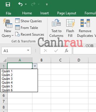 Tạo danh sách thả xuống trong Excel hình 6
