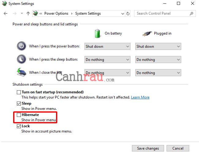 Cách bật tắt Hibernate trên Windows 10 hình 13
