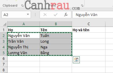 Cách gộp ô trong Excel hình 3
