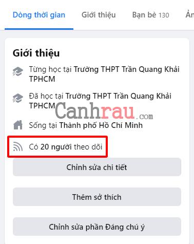 Cách hiển thị số người theo dõi trên Facebook mới nhất hình 24