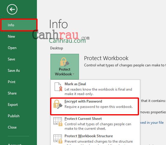 Cách khóa file Excel bằng cách đật mật khẩu hình 1