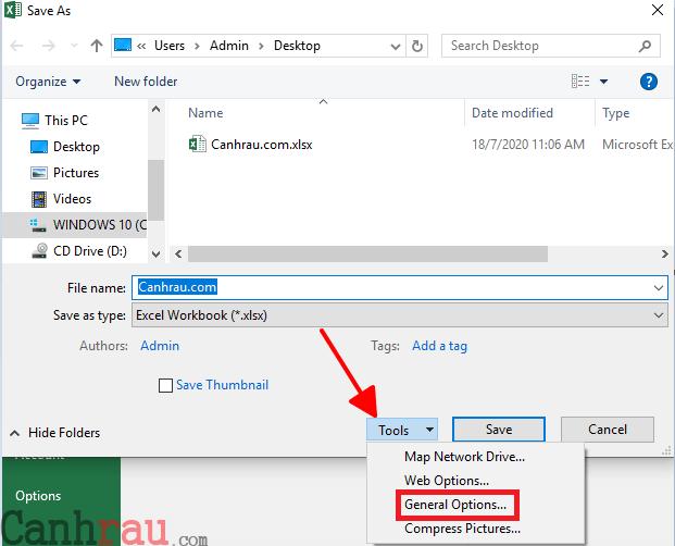 Cách khóa file Excel bằng cách đật mật khẩu hình 13