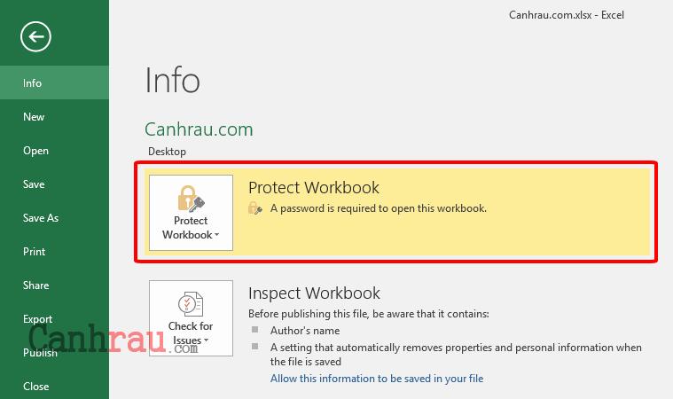 Cách khóa file Excel bằng cách đật mật khẩu hình 4
