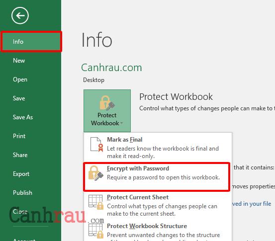 Cách khóa file Excel bằng cách đật mật khẩu hình 6