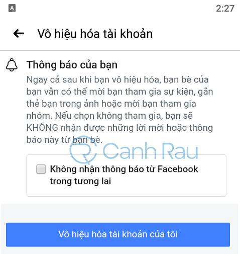 Cách khóa tài khoản Facebook tạm thời hình 12