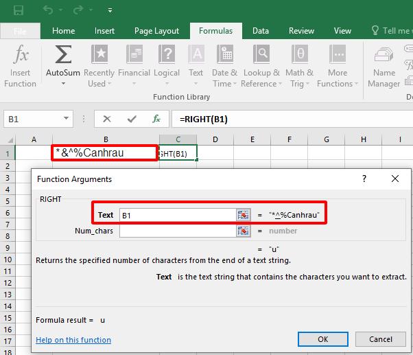 Cách sử dụng hàm Right trong Excel hình 3