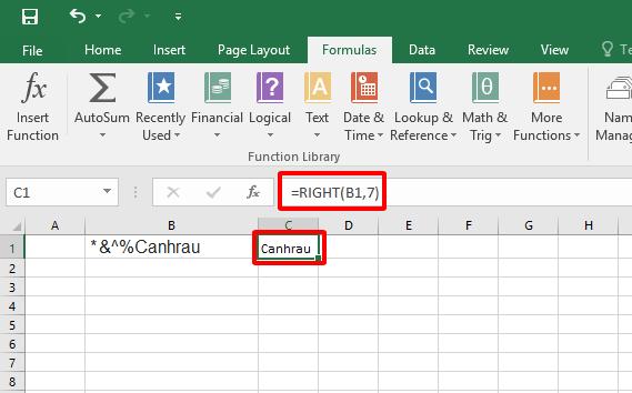 Cách sử dụng hàm Right trong Excel hình 5