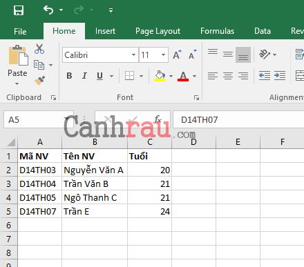 Cách thêm dòng trong Excel hình 11