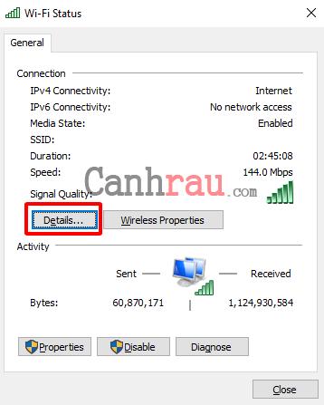 Cách xem địa chỉ IP trên máy tính hình 15