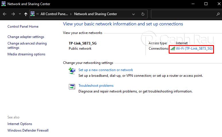 Cách xem mật khẩu Wifi Windows 10 hình 3