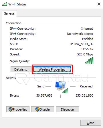 Cách xem mật khẩu Wifi Windows 10 hình 4
