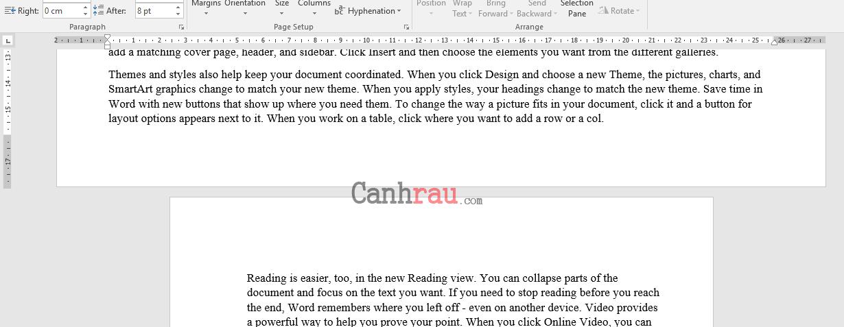 Cách xoay ngang một trang giấy trong Word hình 5