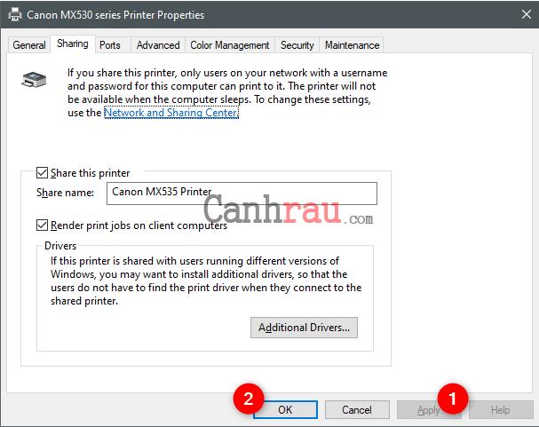 Hướng dẫn cách kết nối và chia sẻ máy in qua mạng LAN hình 11