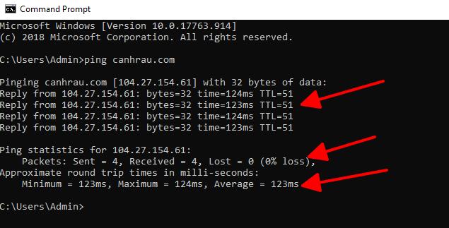 Lệnh test ping trên máy tính hình 3