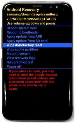Khôi phục cài đặt gốc điện thoại Samsung hình 27