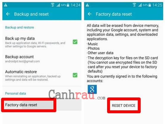 Khôi phục cài đặt gốc điện thoại Samsung hình 8