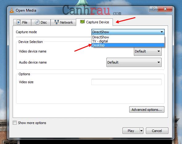Cách quay màn hình máy tính bằng VLC có tiếng hình 3