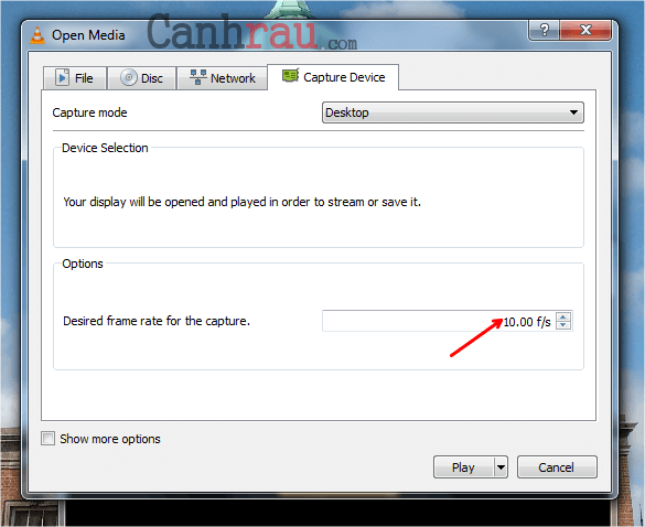 Cách quay màn hình máy tính bằng VLC có tiếng hình 4