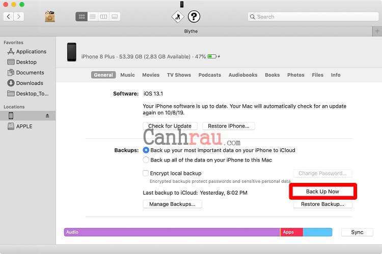 Cách sao lưu dữ liệu trên iPhone hình 3