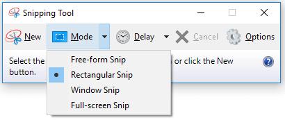 Cách sử dụng phần mềm cắt ảnh Snipping Tool hình 1
