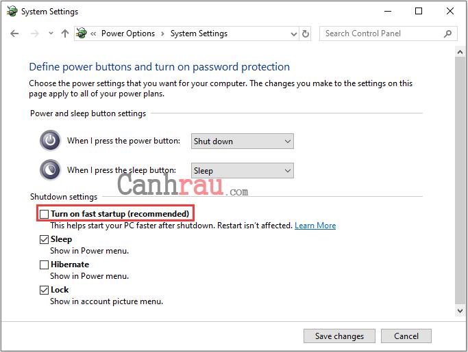 Cách sửa lỗi máy tính Windows 10 không tắt hoàn toàn được hình 5