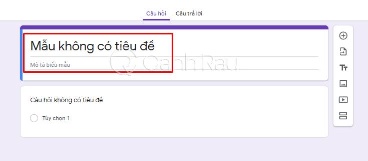 Cách tạo Google Form chuyên nghiệp hình 3