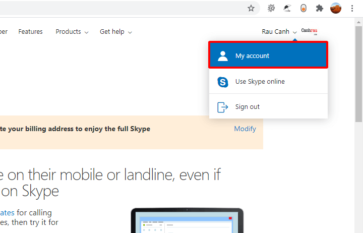 Cách xóa tài khoản Skype hình 1