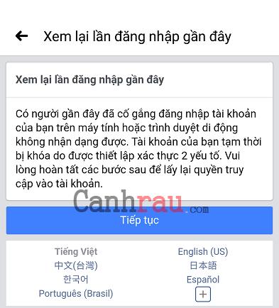 Facebook không gửi mã xác nhận về điện thoại hình 5