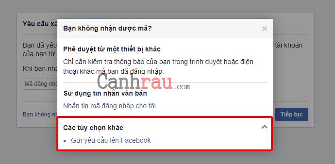 Facebook không gửi mã xác nhận về điện thoại hình 8