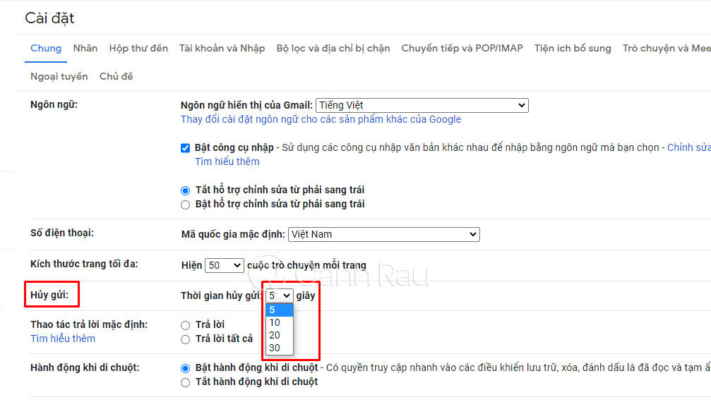 Hướng dẫn cách thu hồi Email đã gửi trong Gmail hình 2