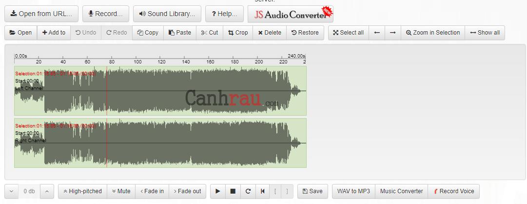 Phần mềm cắt nhạc mp3 online hình 5