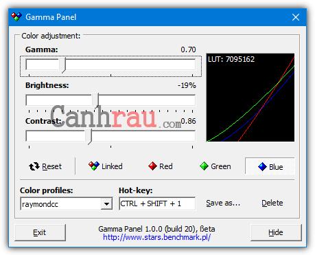 Phần mềm chỉnh độ sáng màn hình máy tính laptop hình 3