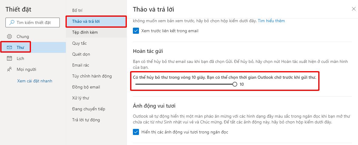 Thu hồi Email đã gửi trong Outlook hình 9