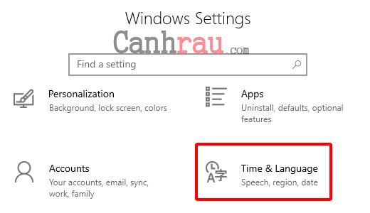 Cách cài đặt ngôn ngữ tiếng việt cho Windows 10 hình 3