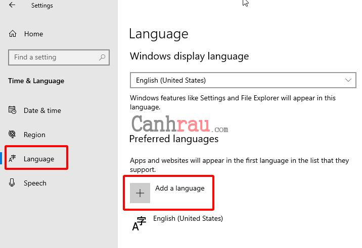 Cách cài đặt ngôn ngữ tiếng việt cho Windows 10 hình 4