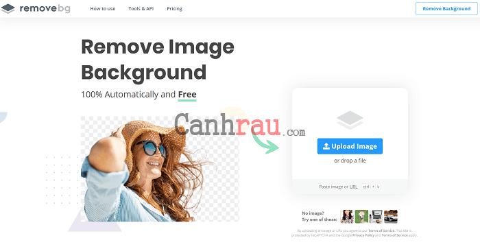 Cách tách nền xóa phông online ảnh hình 3