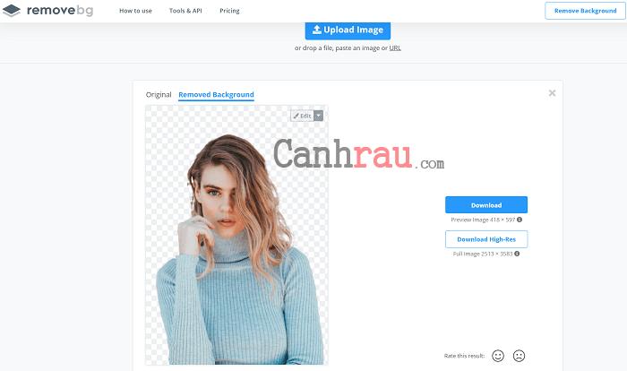 Cách tách nền xóa phông online ảnh hình 4