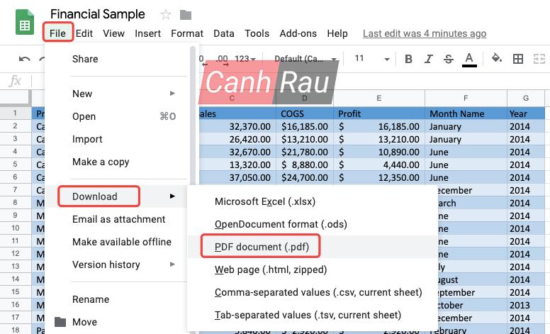 Chuyển file Excel sang PDF giữ nguyên định dạng hình 4