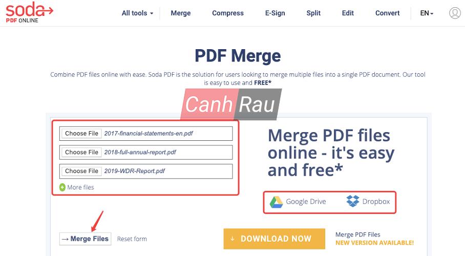 Phần mềm ghép nối file PDF hình 2