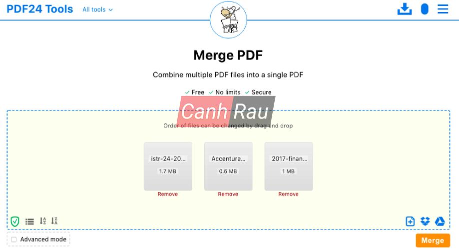 Phần mềm ghép nối file PDF hình 3