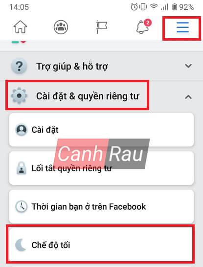 Cách bật chế độ Dark Mode cho Facebook hình 9