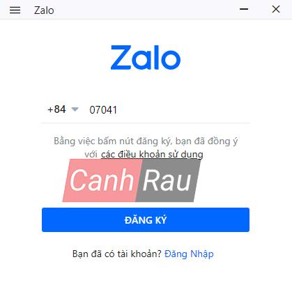 Cách đăng ký tài khoản Zalo trên máy tính và điện thoại hình 2