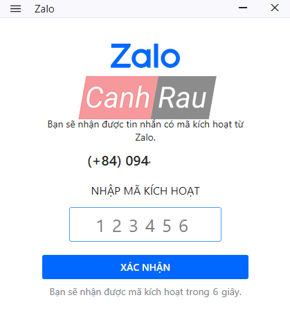 Cách đăng ký tài khoản Zalo trên máy tính và điện thoại hình 4