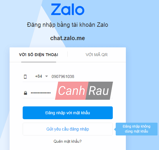 Cách đăng nhập Zalo trên máy tính hình 1